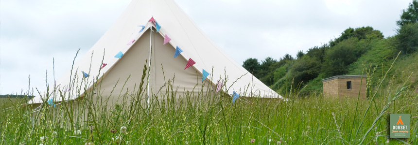 Hire bell tents in Dorset with Dorset Farm Camping