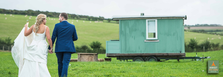 Hire sheperd huts at Dewflock Farm Camping
