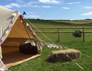 Bell tents at Dorset Farm Camping