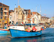 Weymouth harbour is just down the road